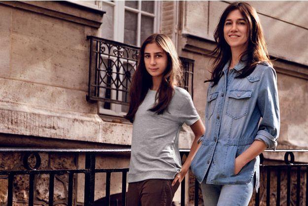 Charlotte Gainsbourg et sa fille Alice