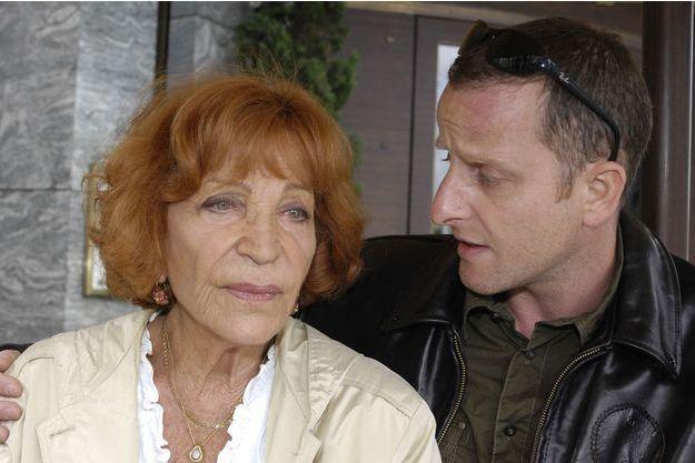 Maria Pacôme et son fils François en 2007.