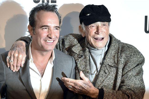 Jean Dujardin et Venantino Venantini à Paris en novembre 2015.