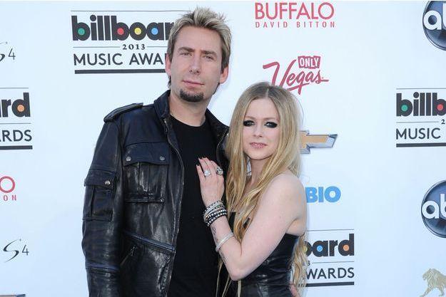Chad Kroeger et Avril Lavigne à Las Vegas en mai 2013.