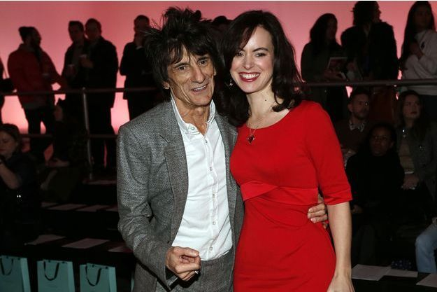 Ron Wood et son épouse Sally à Londres en 2013.