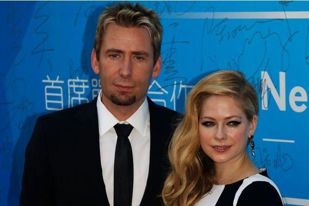 Avril Lavigne et son mari Tchad Kroeger à Macao, le 7 octobre 2013.