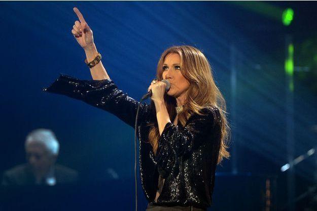 Céline lors de ses derniers concerts à Paris Bercy, novembre 2013.