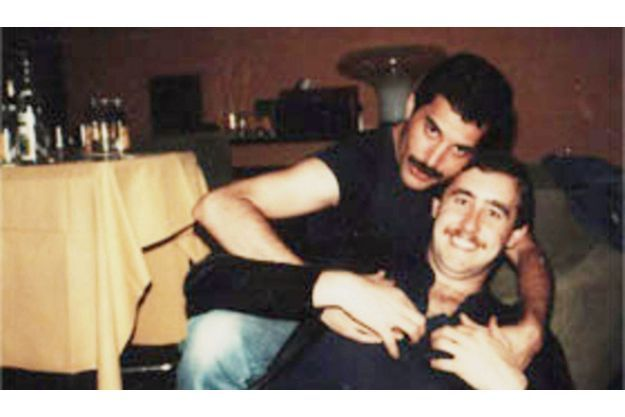 Freddie Mercury avec Peter Freestone.