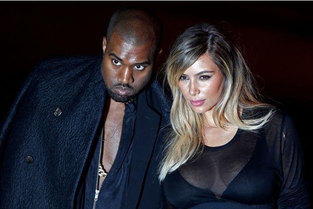 Kanye West et Kim Kardashian à Paris, le 29 septembre, avant le défilé Givenchy.