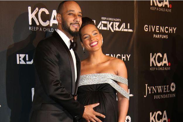 Alicia Keys et son mari Swizz Beatz à New-York, le 30 octobre 2014