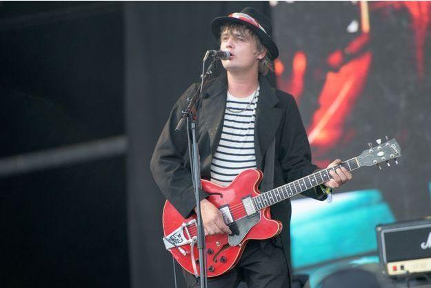 Pete Doherty au Festival de Glastonbury 2015.
