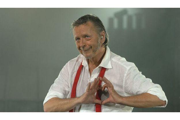 Renaud en concert en Suisse en 2008, déjà le coeur gros.