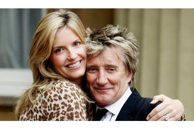 Penny Lancaster et Rod Stewart en juillet 2007.