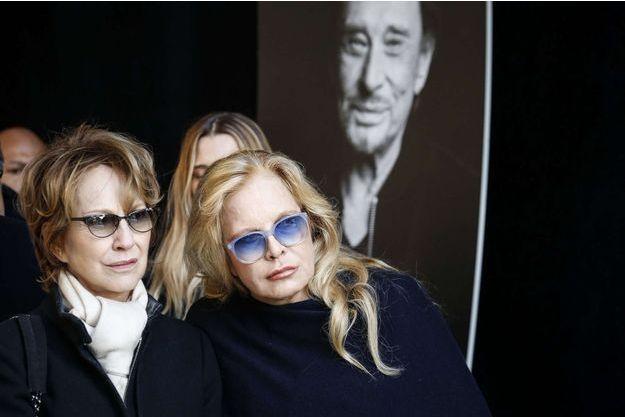 Nathalie Baye et Sylvie Vartan à la Madeleine, le 9 décembre 2017.