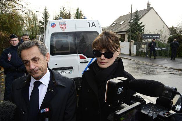 Nicolas Sarkozy et Carla Bruni-Sarkozy, le 8 décembre 2017.