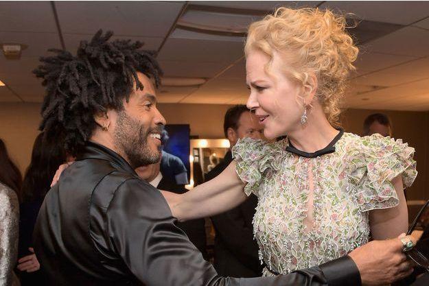 Lenny Kravitz et Nicole Kidman, ici en 2001.