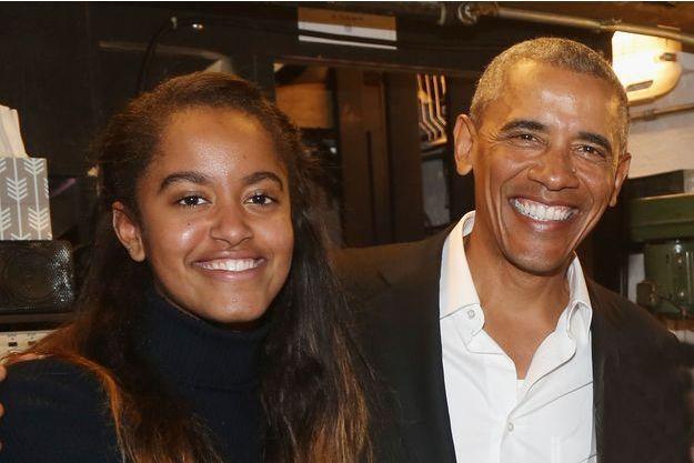 Barack Obama et sa fille Malia à New York, le 24 février 2017.