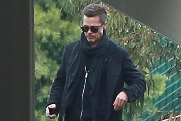 Brad Pitt déjà très amaigri à Santa Monica en janvier 2017.
