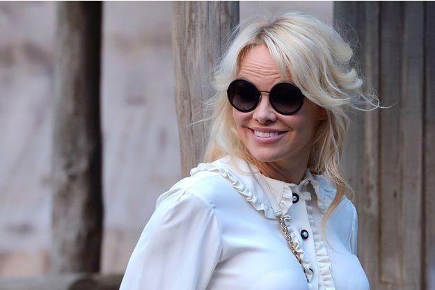 Pamela Anderson à Paris, le 2 octobre 2018