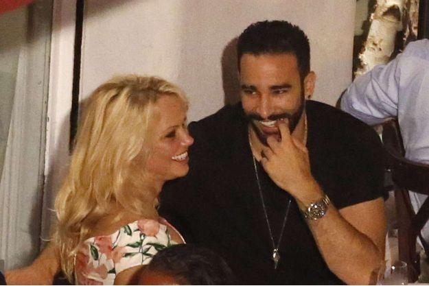 Pamela Anderson et Adil Rami en juin 2017.
