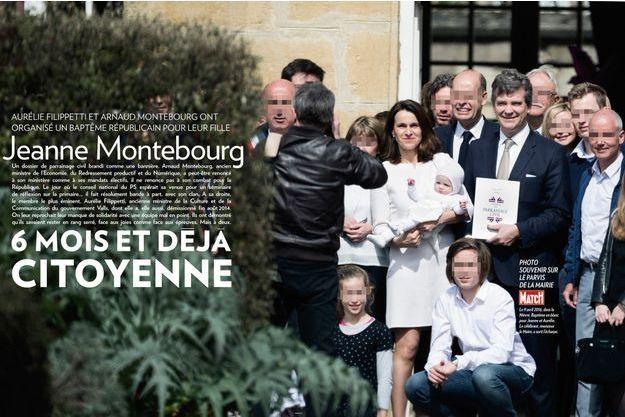 Le 9 avril 2016, dans la nièvre. Baptême en blanc pour Jeanne et Aurélie. Le célébrant, monsieur le maire, a sorti l'écharpe.