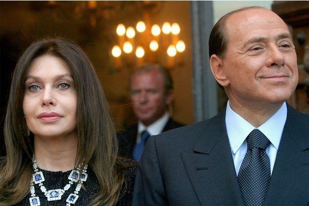 Veronica Lario et Silvio Berlusconi en 2004, cinq ans avant leur séparation.
