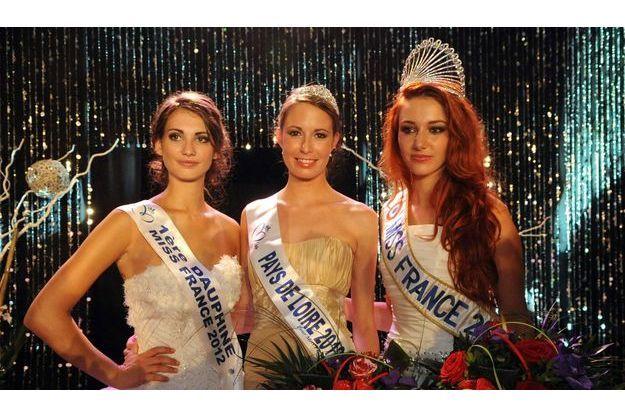 Election de Miss Pays de Loire en septembre 2012 : Mathilde Couly (Miss Pays de Loire 2011), Melinda Paré (Miss Pays de Loire 2012), Delphine Wespiser (Miss France 2012)