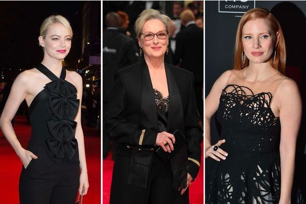 Emma Stone, Meryl Streep, Jessica Chastain opteront pour le noir aux Golden Globes 2018