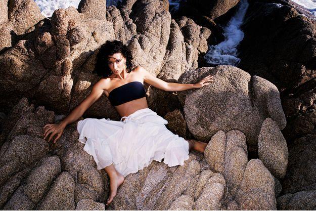 2005 : Jenifer sur la plage de Cala d'Orzu en Corse