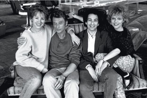 Avec Nathalie Baye et France Gall à Montréal, où Johnny et Michel Berger