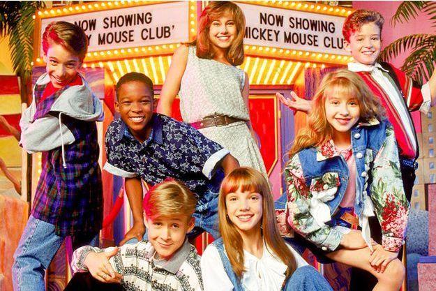 Ryan Gosling, Christina Aguilera, Britney Spears et Justin Timberlake à l'époque du Mickey Mouse Club