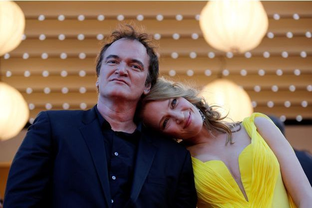 Quentin Tarantino et Uma Thurman lors du Festival de Cannes 2014.