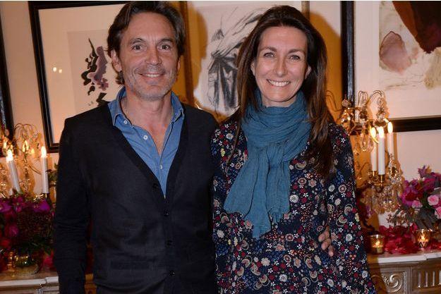 Anne-Claire Coudray et son compagnon Nicolas Vix en novembre 2017.