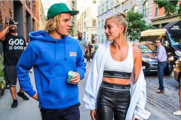 Justin Bieber et Hailey Baldwin à New York le 12 juillet 2018