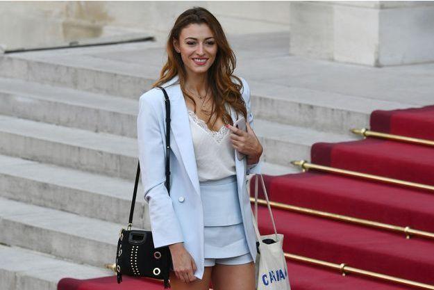 Rachel Legrain-Trapani au palais de l'Elysée, juillet 2018