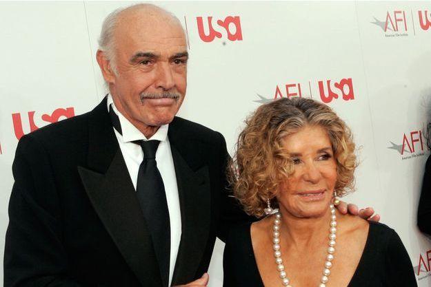 Sean Connery et sa femme en 2006.