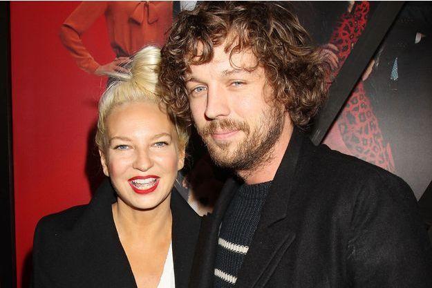Sia et Erik Lang en décembre 2014