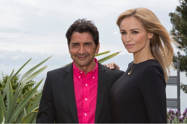 Adriana Karembeu et son futur époux, lors du tournoi de Monte-Carlo en avril dernier.