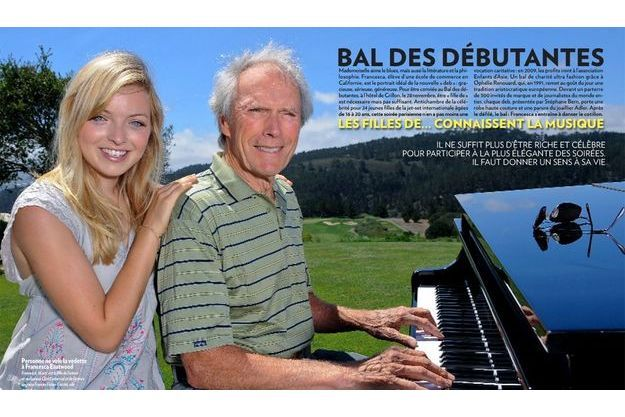 Francesca, 16 ans, est la fille de l'acteur et réalisateur Clint Eastwood et de l'actrice anglaise Frances Fisher.