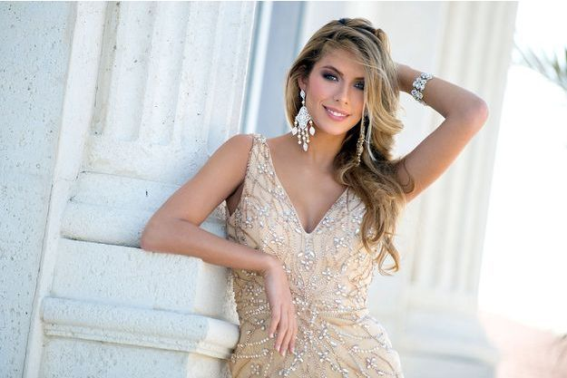 Camille Cerf lors de la préparation du concours Miss Univers, à Doral le 7 janvier dernier