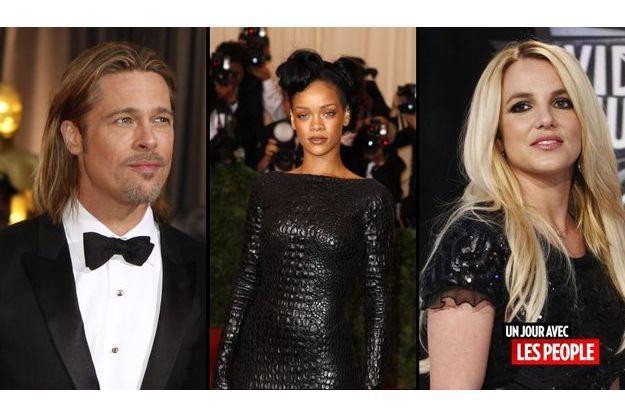 Brad Pitt, Rihanna et Britney Spears