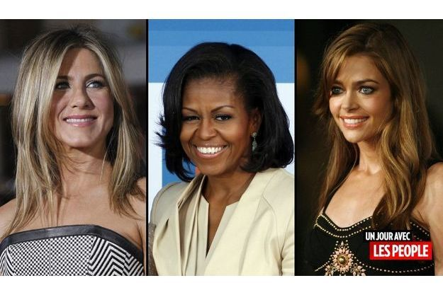 Jennifer Aniston, Michelle Obama et Denise Richards