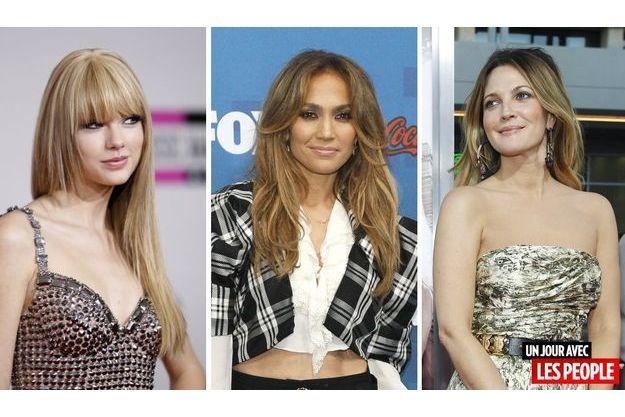 Taylor Swift, Jennifer Lopez et Drew Barrymore.