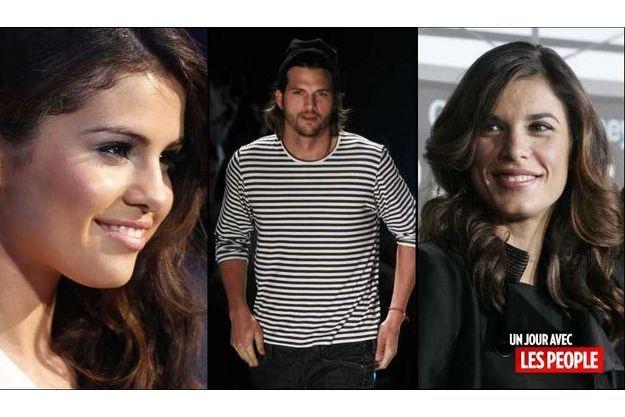 Selena Gomez, Ashton Kutcher et Elisabetta Canalis.