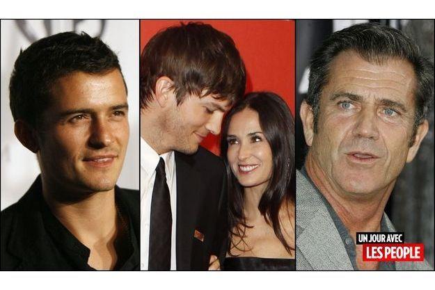 Orlando Bloom, Ashton Kutcher et Demi Moore, Mel Gibson