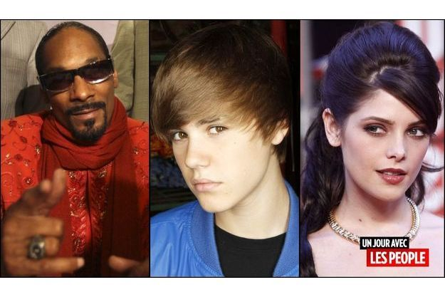 Snoop Dogg, Justin Bieber, Ashley Greene