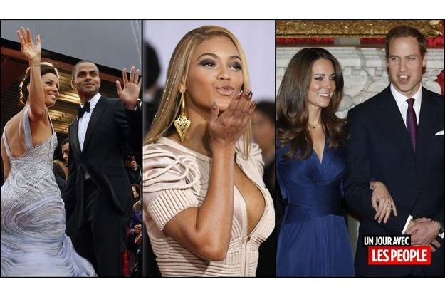 Eva Longoria et Tony Parker, Beyonce, Kate et William