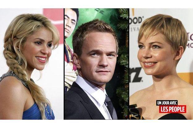Shakira, Neil Patrick Harris et Michelle Williams