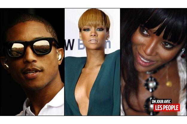 Pharrell Williams, Rihanna, Naomi Campbell