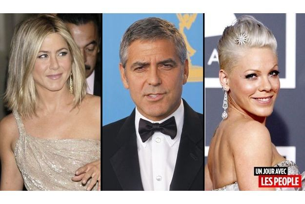 Jennifer Aniston, George Clooney et Pink.