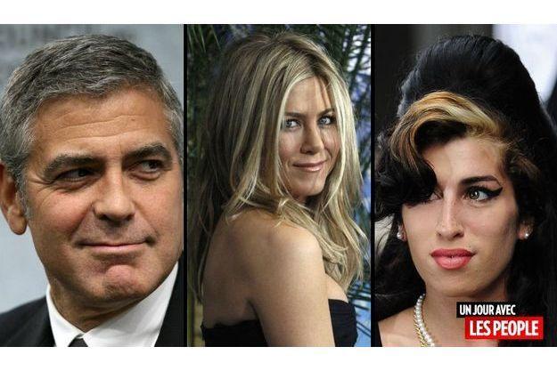 George Clooney, Jennifer Aniston et Amy Winehouse