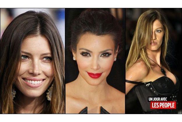 Jessica Biel, Kim Kardashian, Gisele Bündchen