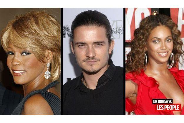 Whitney Houston, Orlando Bloom et Beyoncé.