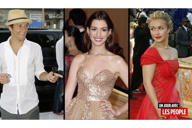 Jason Mraz, Anne Hathaway et Hayden Panettiere.